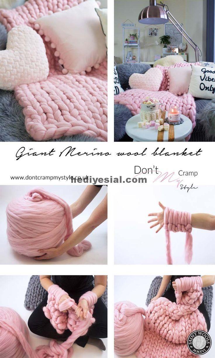 Photo of Arm gestrickte Decke ist so gemütlich, weich und warm. Macht ein perfektes Gesc…