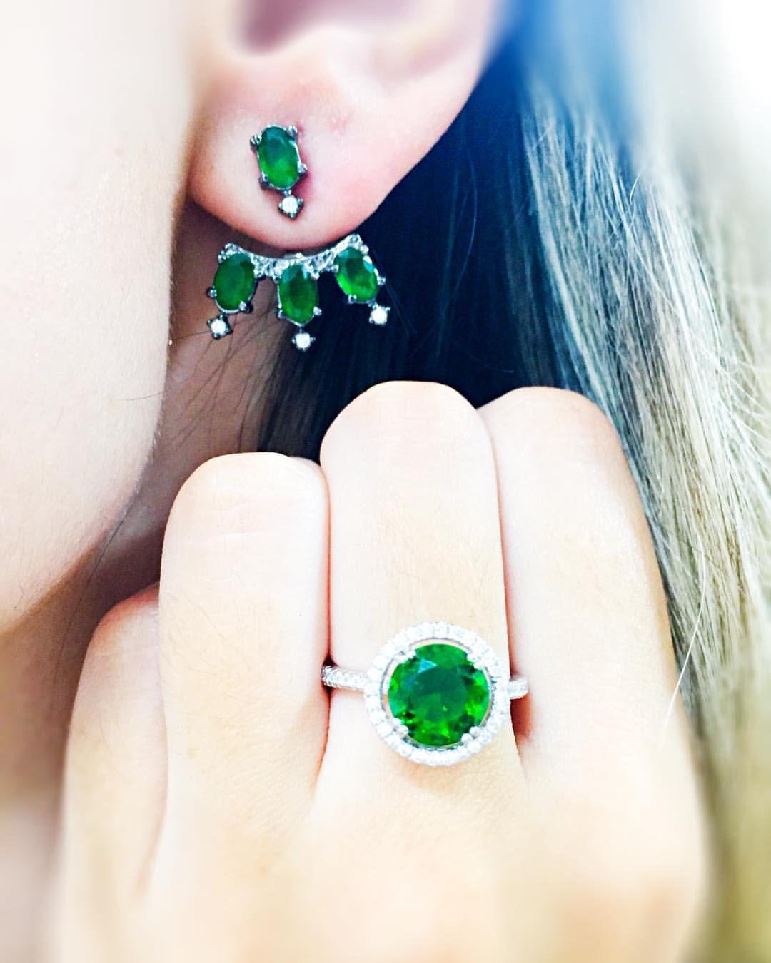 Semijóias — A vez é do verde esmeralda do ear jacket Anita e o...