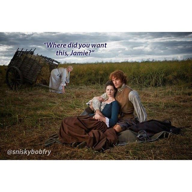 #Outlander #OutrageousOutlander #SamHeughan #CaitrionaBalfe Always ready to do anything for Jamie.