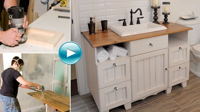 Vidéo Un meuble-lavabo champêtre Google search, Laundry rooms and - Renovation Meuble En Chene