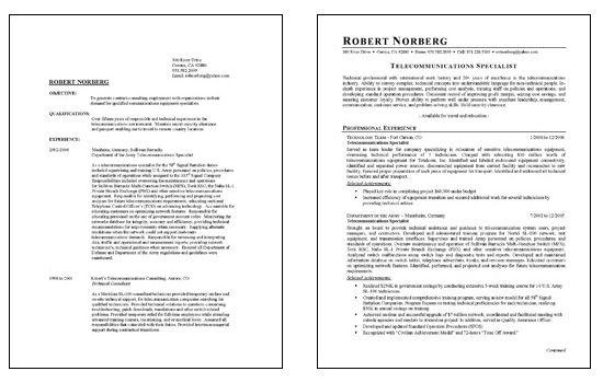Telecommunications Telecom Resume Examples Job Resume Examples Resume Format