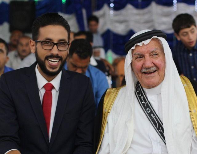 الاعلامي محمد العشي والعم الغالي عبدالحي المجالي أبو نادر Lab Coat Coat Jackets