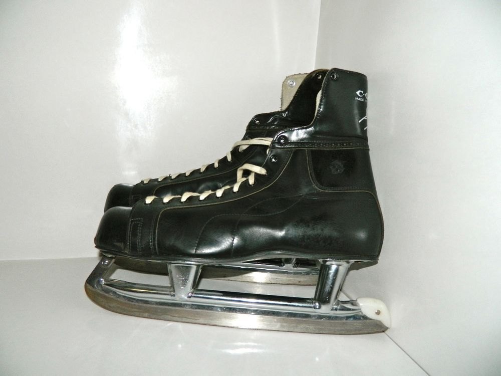 Vintage Ccm Bobby Hull Leather Hockey Ice Skates Size 12 Made In Canada Ccm Roller Hockey Skates Ice Roller Bobby Hull