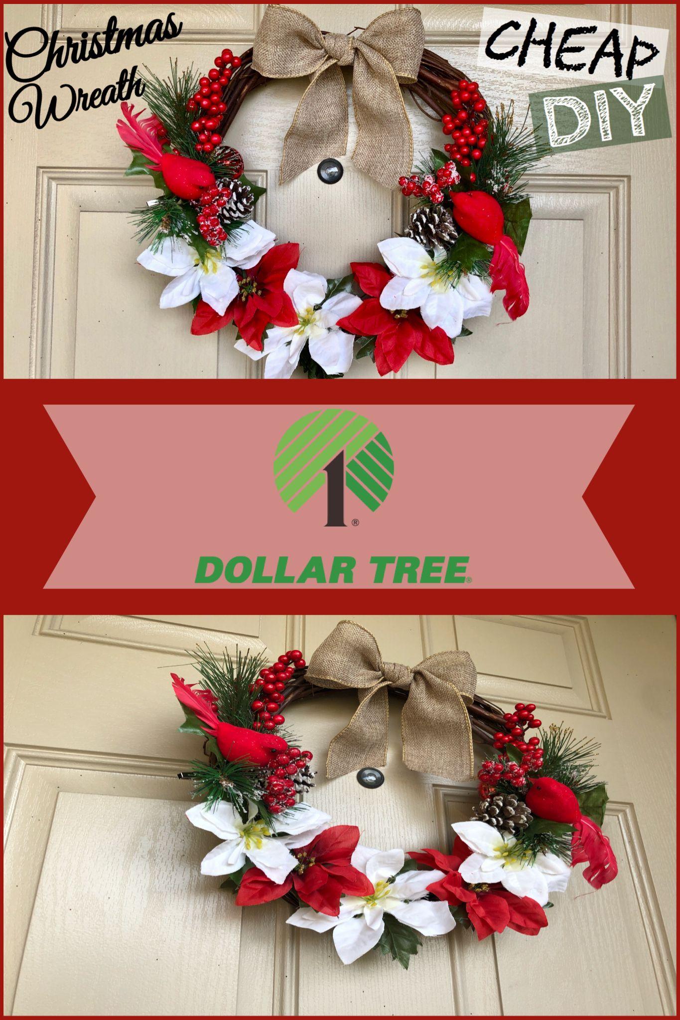 DIY CHRISTMASDECOR DOLLARTREE Cheap christmas wreaths