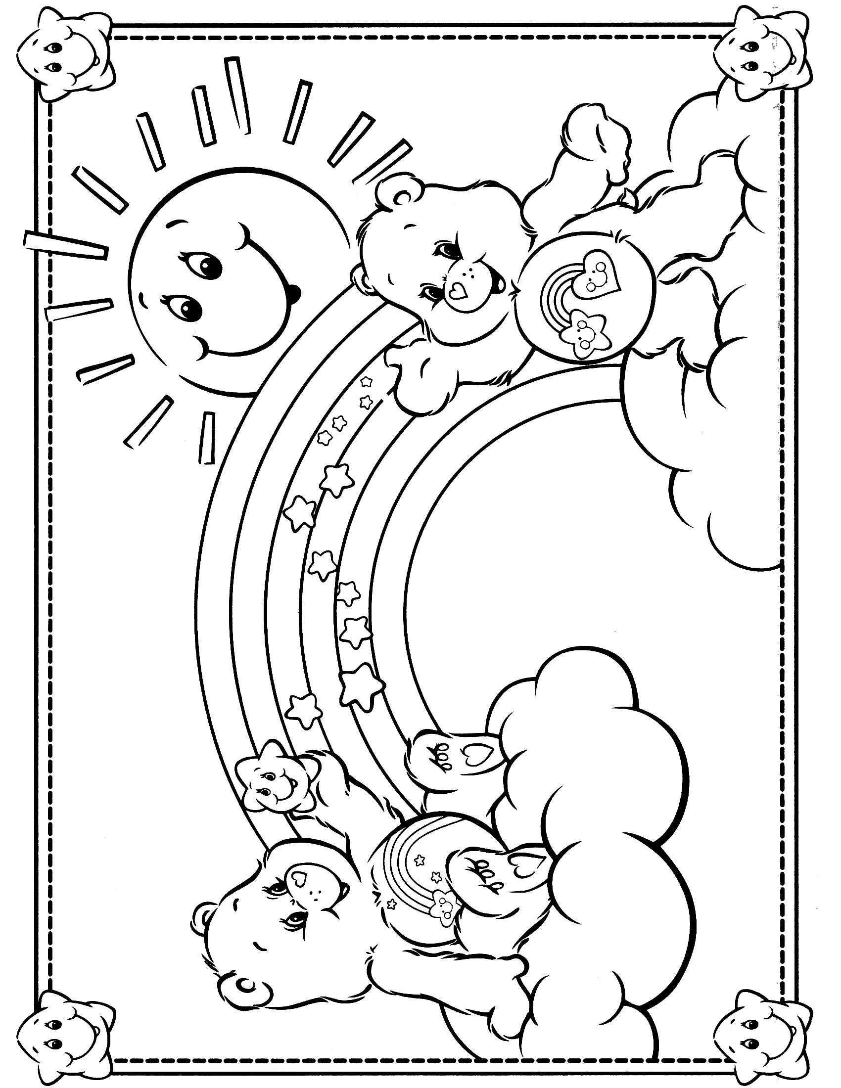 Care Bears Coloring Page Spring Coloring Pages Bear