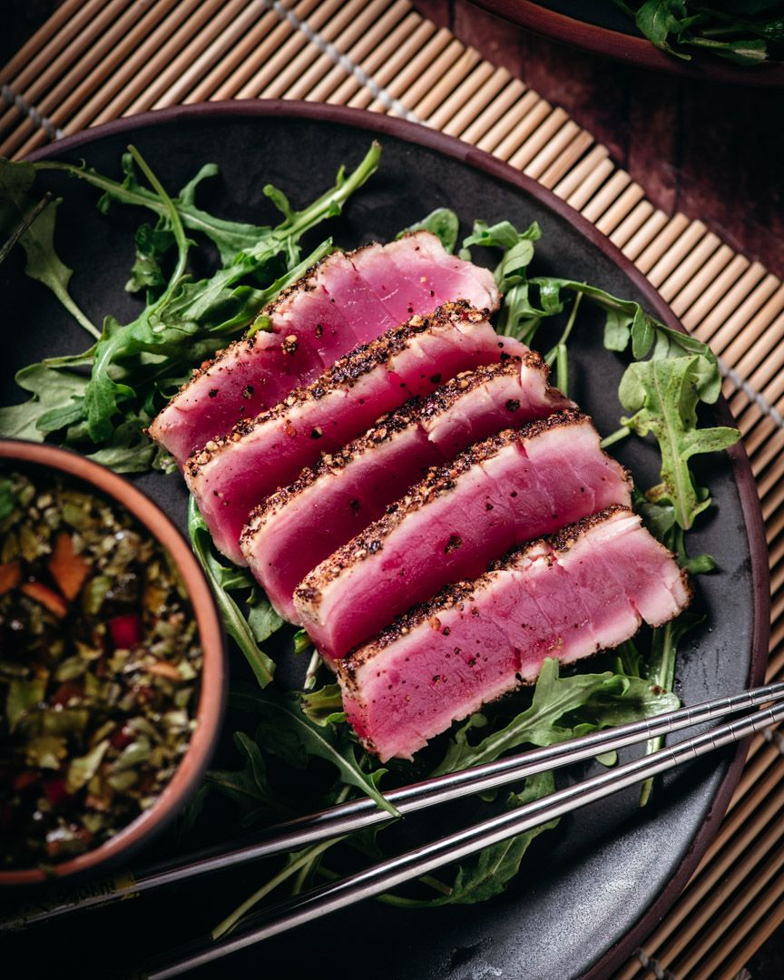 Seared Ahi With Ponzu Sauce Cooking With Wine Blog In 2020 Food Cooking Seared Ahi