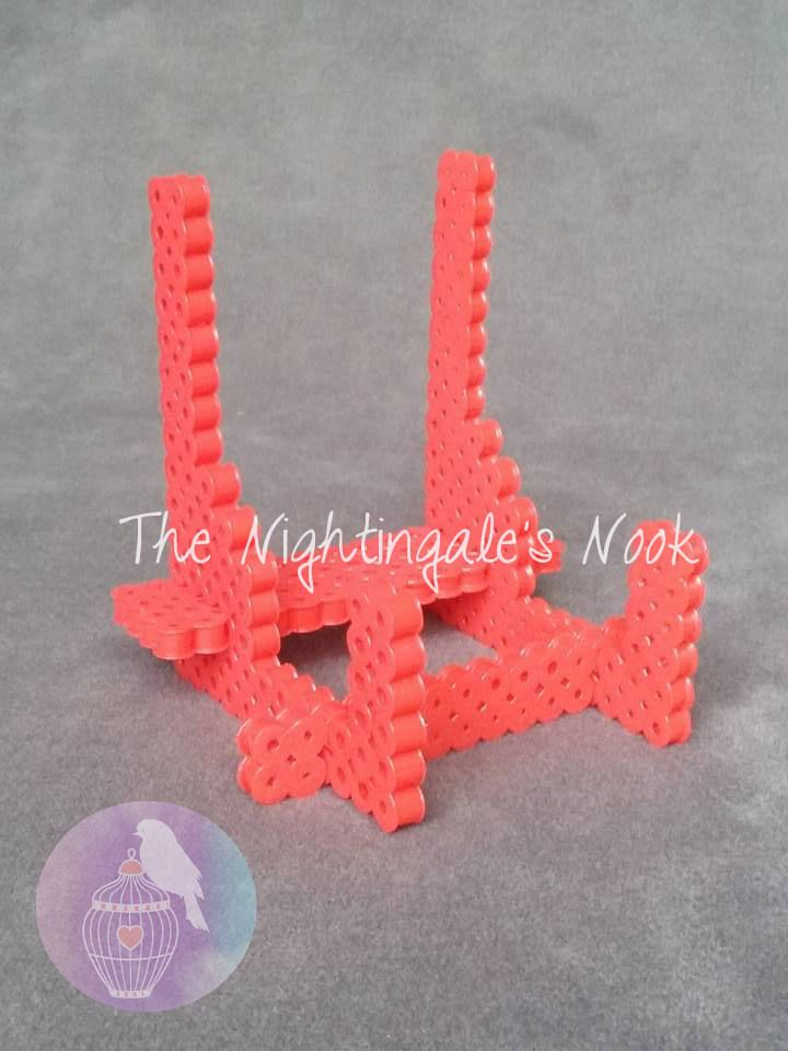 Red fused bead business card holder phone stand business card 400 plus shipping red fused bead business card holder phone stand by thenightingalesnook on etsy colourmoves