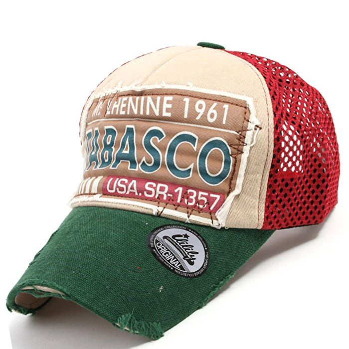 Vintage Hat Tattoos: Ililily Distressed Vintage Mesh Baseball Cap Snapback