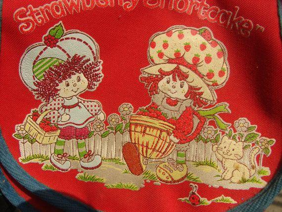 Vintage 1980s Strawberry Shortcake Canvas Purse by SecretHideout