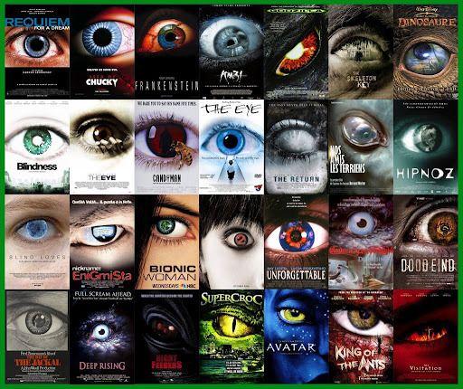 tipos clichês de capas de filmes - Um olho grande