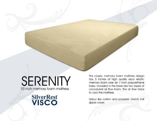Full 10 Deluxe Double Air Flow Memory Foam Mattress With 3 5lb Density Viscoelastic Memory Foam Free Shipping Memory Foam Mattress Foam Mattress Memory Foam