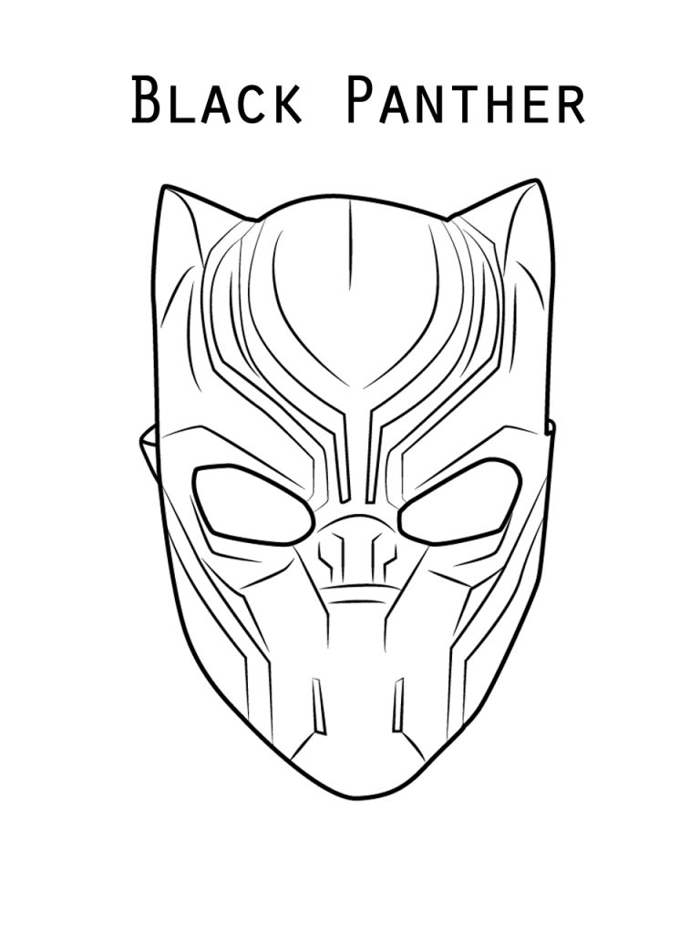 Black Panther Coloring Pages Best Coloring Pages For Kids Black Panther Drawing Black Panther Face Avengers Coloring