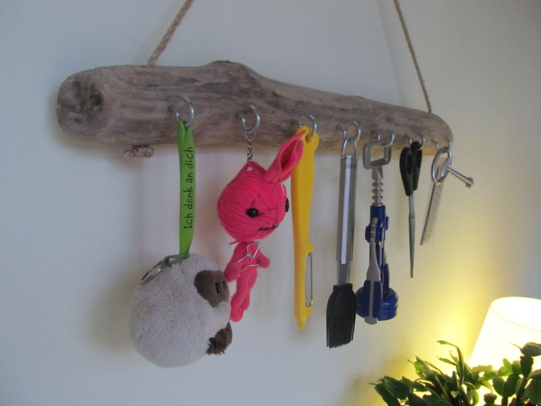 RESERVED for Alexandra 7 Hook Driftwood Key Organizer Wall 19