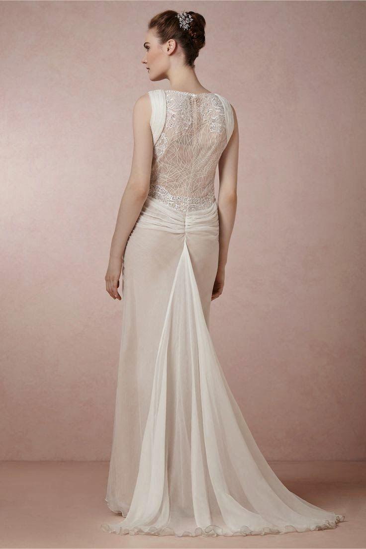 1930s style wedding dresses  Leyna by Tadashi Shoji at BHLDN  Mike and Anna  Pinterest