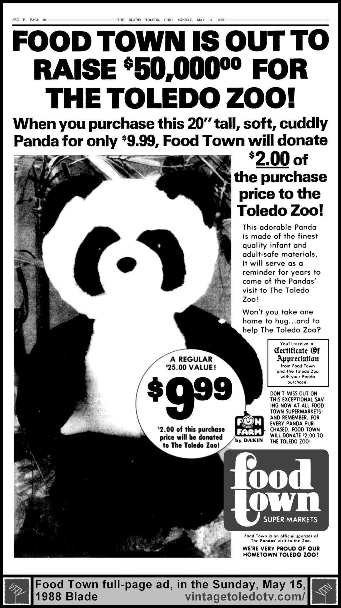 vintage toledo tv other vintage print ads food town is out to vintage toledo tv other vintage print ads food town is out to raise 50 000
