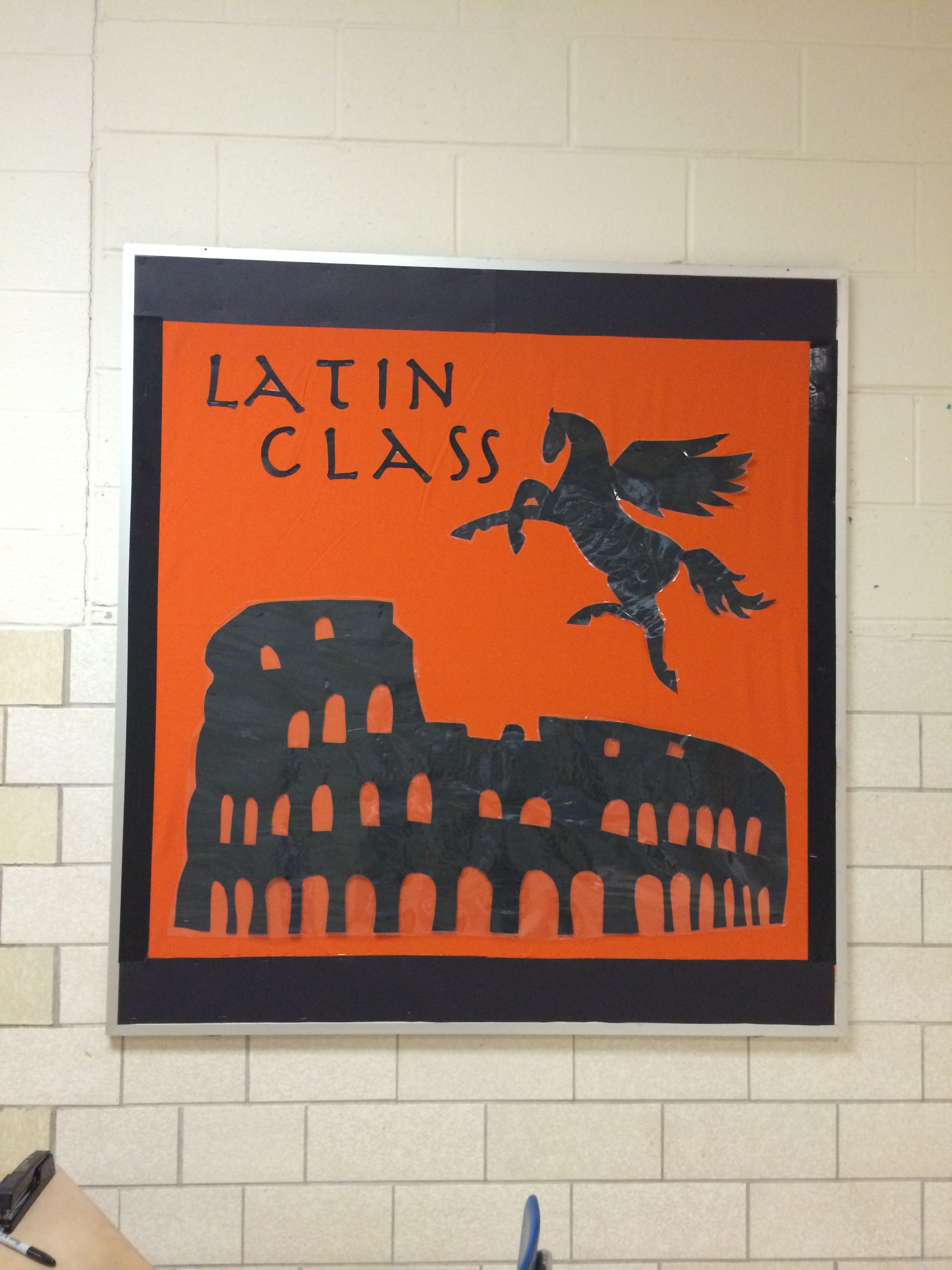 Latin Class Greco Roman Pottery Bulletin Board