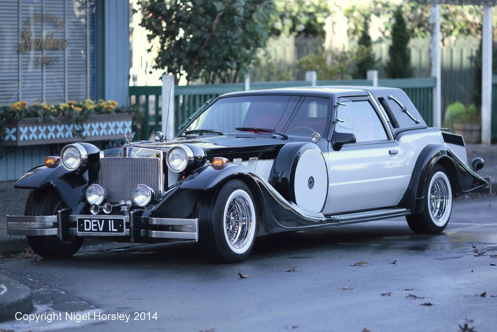 Cruella\'s car, inspired by the movie, it\'s a modified 1980s Zimmer ...