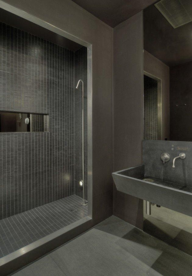Marvelous Industrial Bathroom Part 10  Industrial Loft Bathroom Extraordinary Loft Bathroom Designs Review
