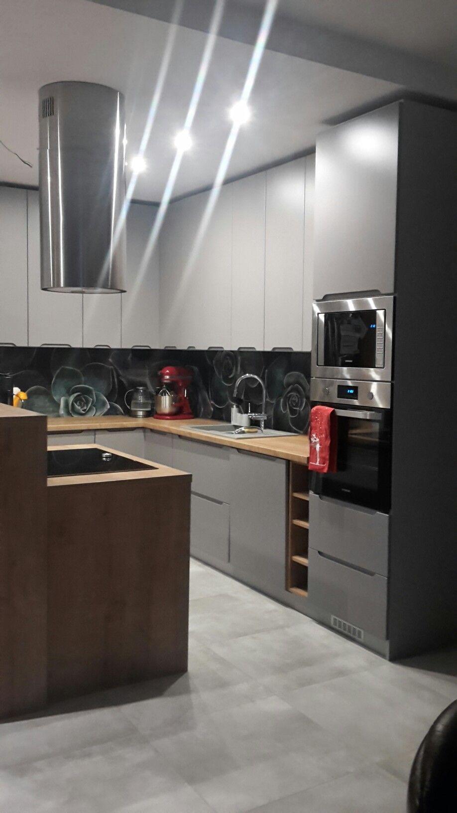 Kuchnia Z Wyspa Kitchen Cabinets Kitchen Home Decor