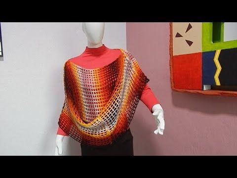 Capa Poncho Fácil y Rápido #Ganchillo #Crochet Easy Layer up DIY - YouTube