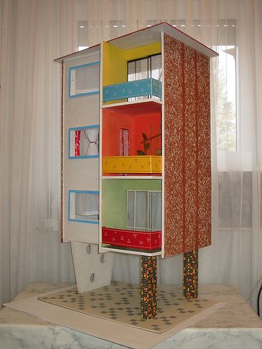 1966 VERO Hochhaus nachher after   Doll house, 1960