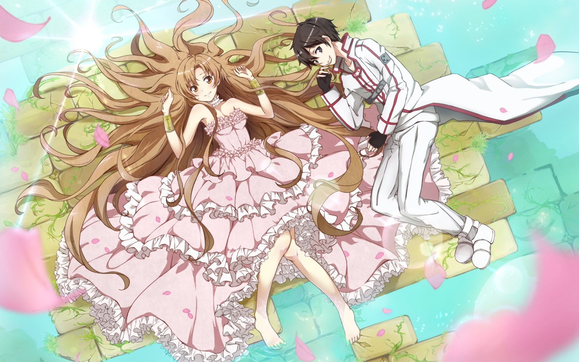 Asuna and Kirito | Sword art online | Pinterest | Kirito, Sword art ...