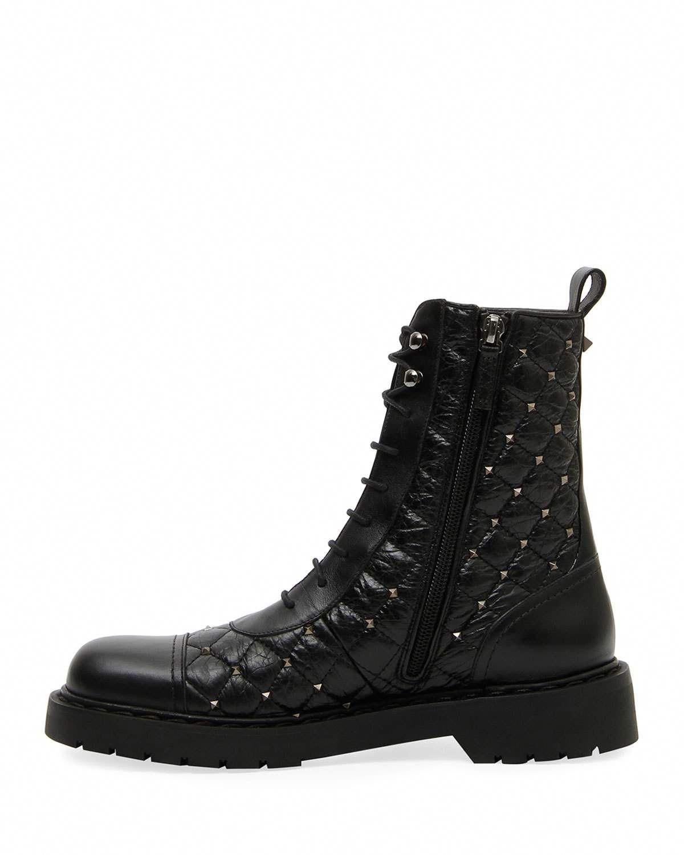 016a832c427 Valentino Garavani Rockstud Spike Combat Boot  Valentino