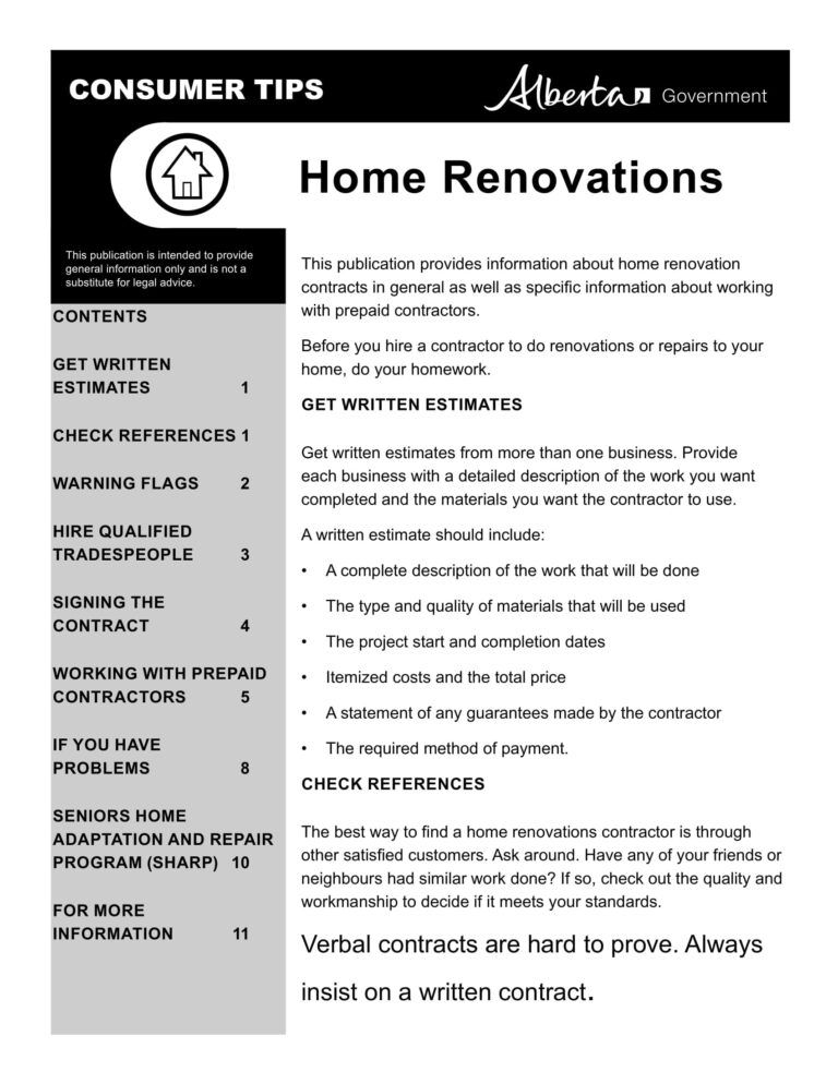 10 Bathroom Renovation Contract Template Examples Pdf Intended