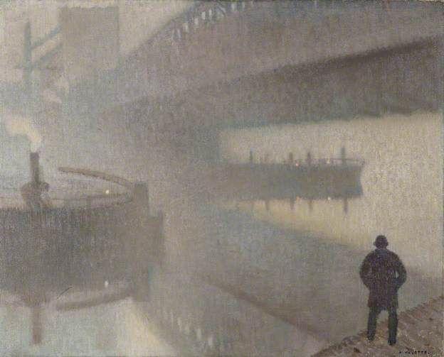 Adolphe Valette, Under Windsor Bridge on the Irwell, Manchester. 1912
