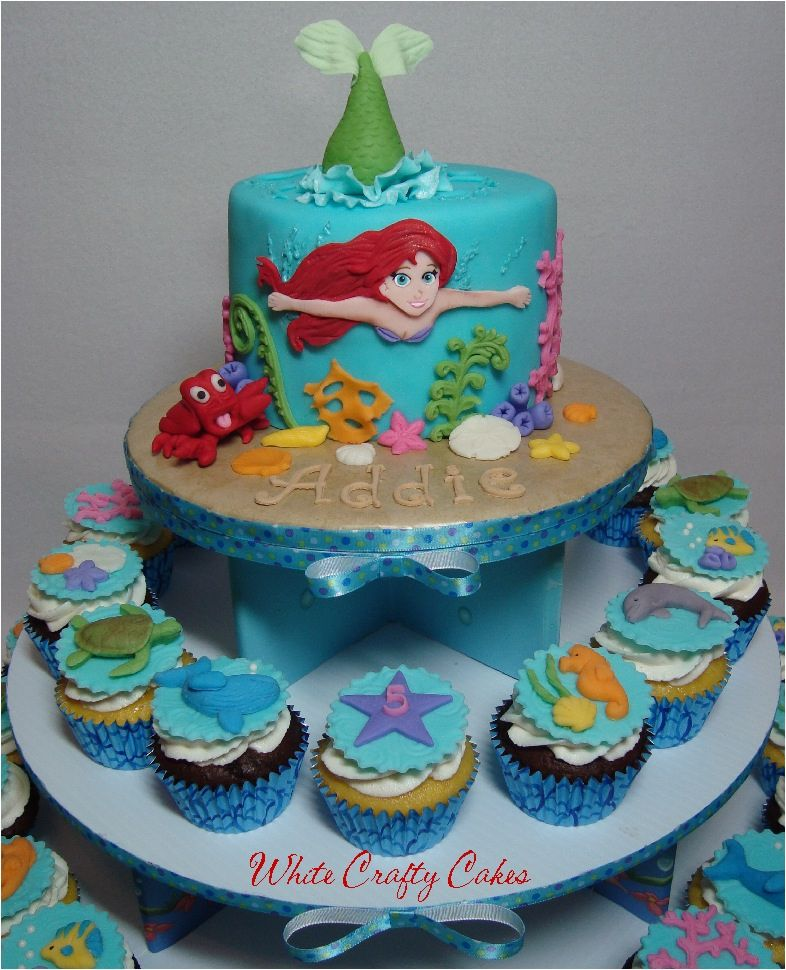 The Little Mermaid Cake and Cupcake Tower — Disney Themed Cakes