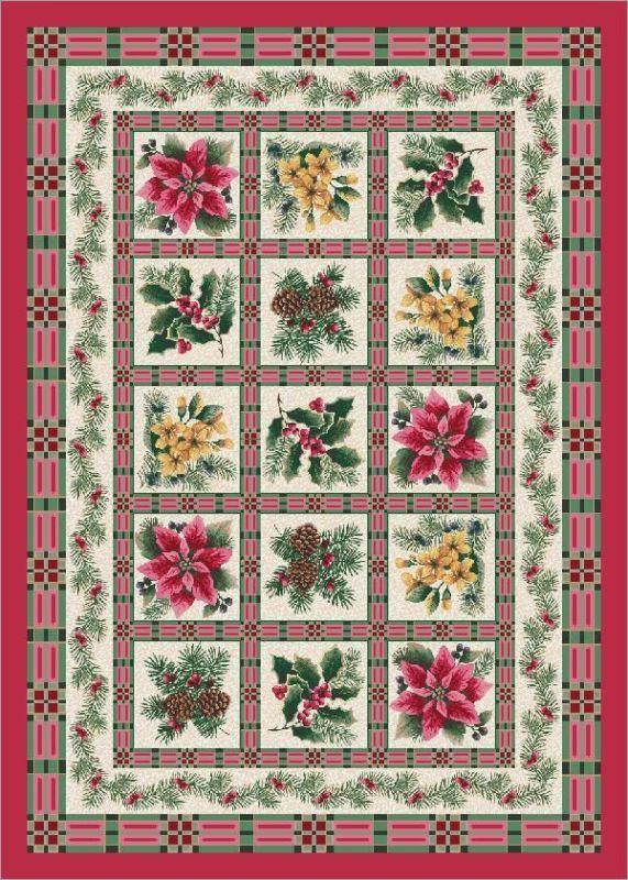 Christmas Rugs 5x7.Milliken Seasonal Yuletide Garden Evergreen Rug Kids