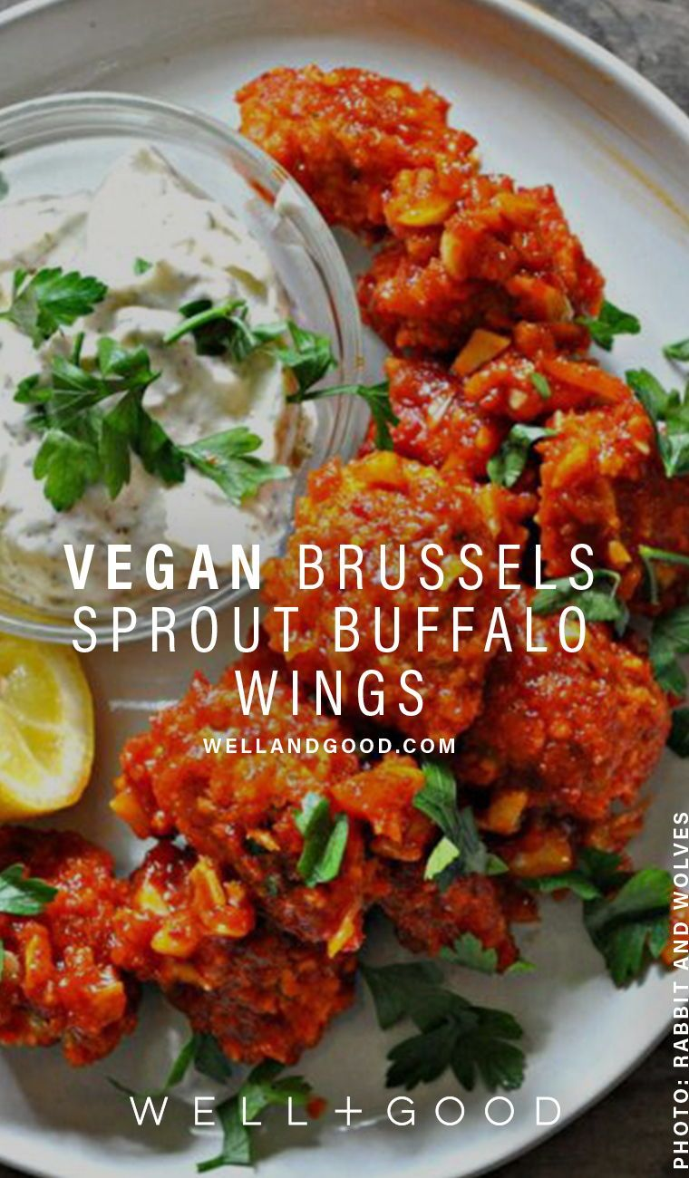 You Can Make Vegan Wings With Brussels Sprouts Well Good Vegan Wings Superfood Recipes Healthy Recipes
