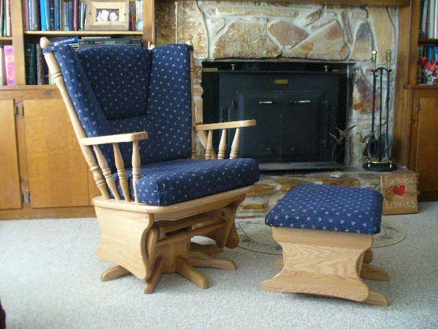 Amish Virginia Gliding Swivel Rocking Chair Virginia Rocking