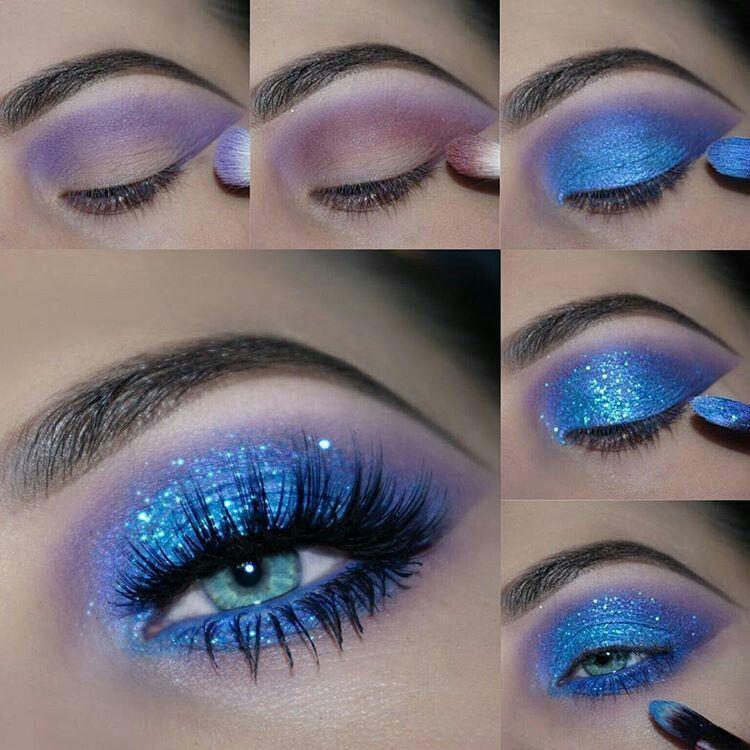 Motives Glitter Pots 80s Eye Makeup Silver Eye Makeup Blue Makeup
