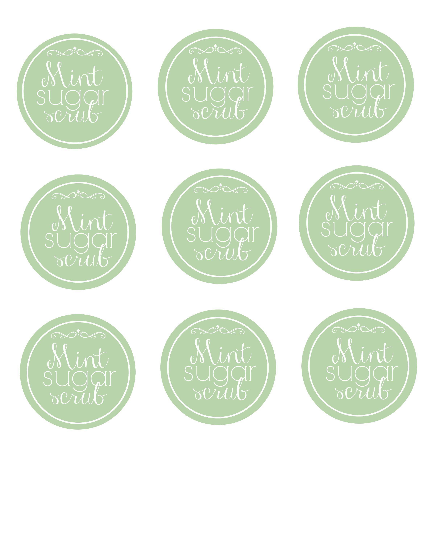 Diy Easy Mint Sugar Scrub Plus Printable Labels