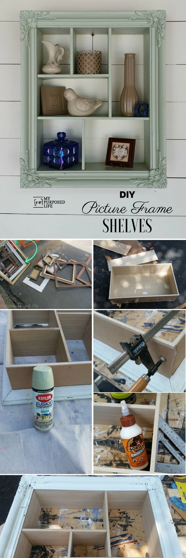 Check out the tutorial: #DIY Picture Frame Shelves @istandarddesign ...