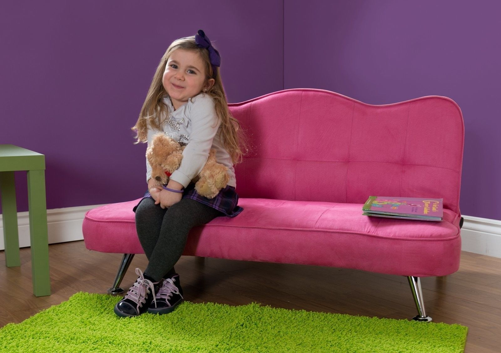 kids sofa lounger junior futon couch sofa girls tufted bed sleeper