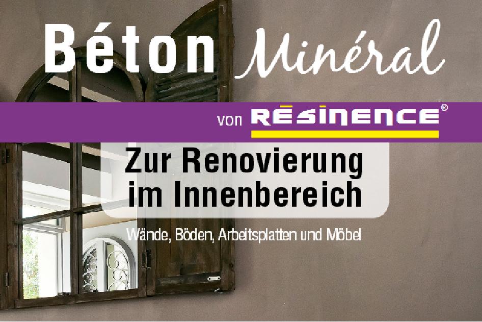 Fugenlose Designer Spachtelmasse Beton Mineral Resinence