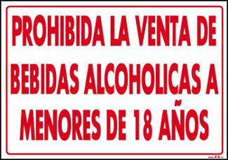 No A La Venta De Alcohol A Menores De Edad Buscar Con Google Danger Sign Novelty Sign Signs