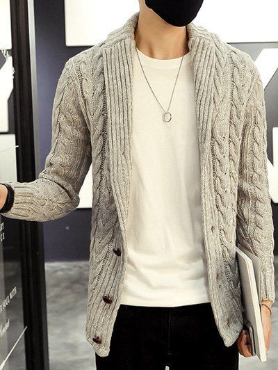 Shawl Collar Cable Knitted Cardigan is part of Clothes Hipster Cardigans - Cheapest and Latest women & men fashion site including categories such as dresses, shoes, bags and jewelry with free shipping all over the world