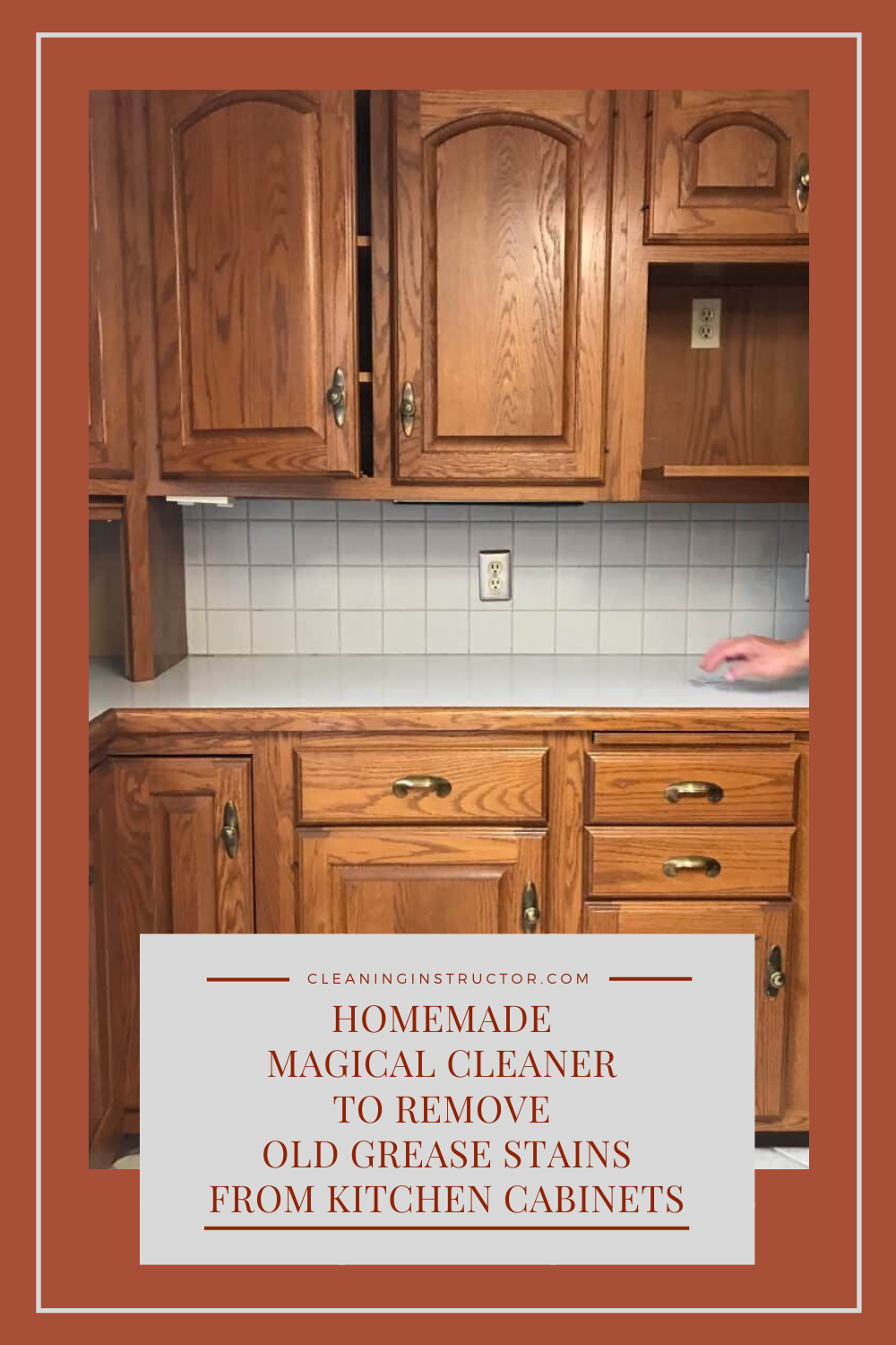 Homemade Magical Cleaner To Remove Old Grease Stains From Kitchen Cabinets In 2020 Kitchen Cabinets Grease Stains Old Kitchen Cabinets