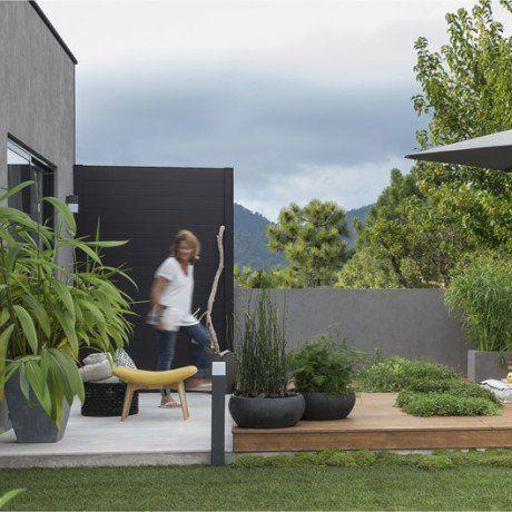 Lame En Composite Droite L 150 X H 16 Cm X Ep 20 Mm Leroy Merlin Terrasse Jardin Jardins Palissade