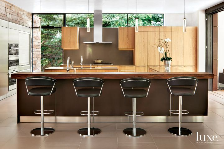 The Open Kitchen Features Bulthaup Custom Light Oak Cabinetry From Kitchen  Distributors And Appliances By Zephyr, Miele, Sub Zero And Wolf. The Blau2026