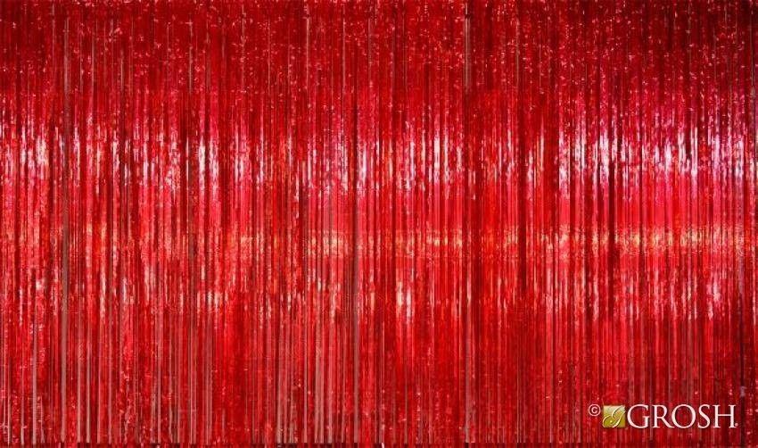Red Rain Curtain Backdrop Strip Curtains Curtains Red Rain