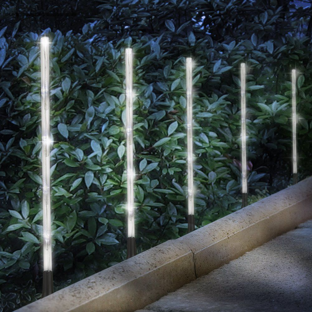 Solar Garden Lights Haidexi 6 Pack Whites Pathway Decoration Stick Stake