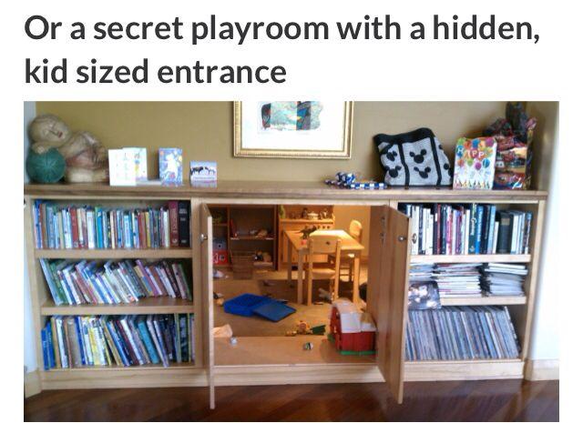 Secret Playroom With A Hidden Kid Sized Entrance Hidden Rooms