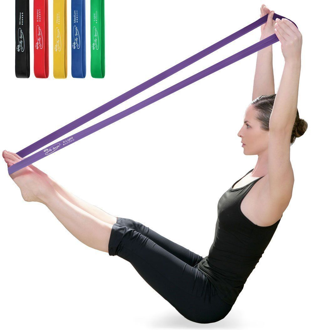 Dyna Band Resistance Exercise Band Gym Keep Fit Yoga Pilates Purple Strength Kit