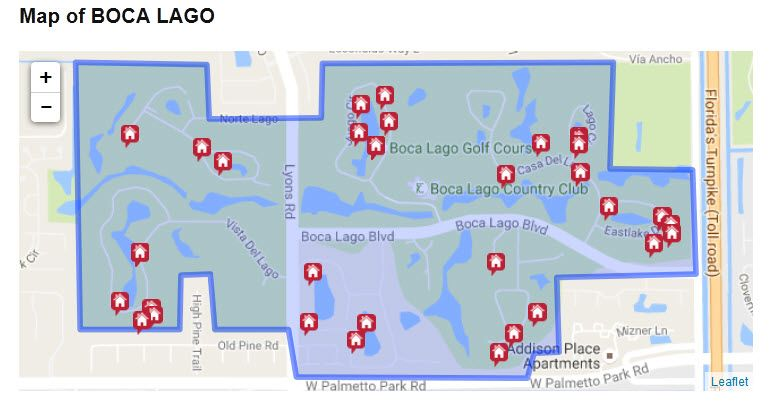Map Of Florida Showing Boca Raton.Map Of Boca Lago In Boca Raton Florida And Homes For Sale In Boca