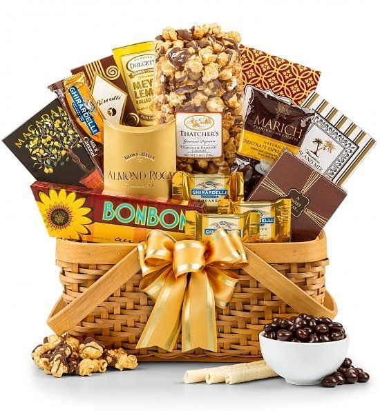 Golden Anniversary Gift Basket 50th Anniversary Gifts Golden Anniversary Gifts Anniversary Gift Baskets