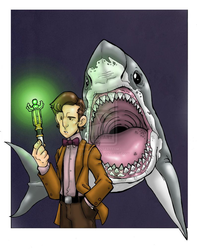 The Doctor and the Shark by badgerlordstudios on deviantART